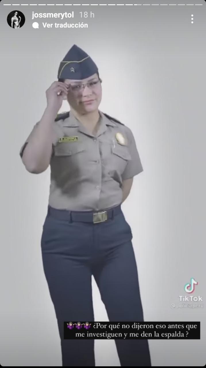 Policía Nacional del Perú parodia tiktok de Jossmery Toledo